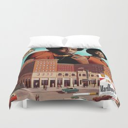 Roadblock of the Reds (AKA Deal With It) Duvet Cover