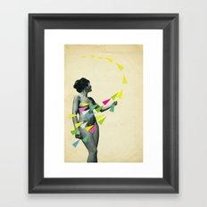 She's a Whirlwind Framed Art Print