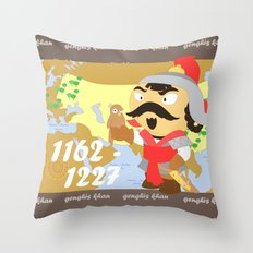 Genghis Khan Throw Pillow