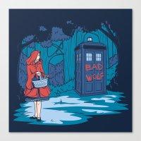 hallion Canvas Prints featuring Big Bad Wolf by Karen Hallion Illustrations
