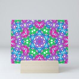Pink, Purple, Blue, and Green Kaleidoscope Mini Art Print
