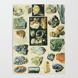 Vintage Minerals Chart Poster