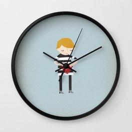 Boy Mending Broken Heart Wall Clock