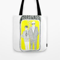 rushmore Tote Bags featuring Rushmore by Mexican Zebra