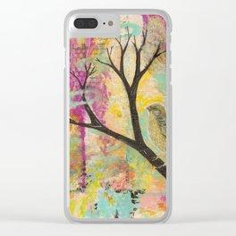 Fuchsia Sparrow Clear iPhone Case