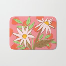 Daisies for You in Pink Bath Mat