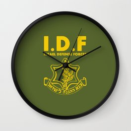 IDF Israel Defense Forces - with Symbol - ENG Wall Clock