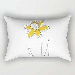 Mustard Daffodil Rectangular Pillow