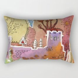 Oxford watercolor #1 Rectangular Pillow