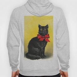 Pretty Black Cat- Vintage Cat Hoody