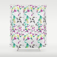 watercolor geometry  Shower Curtain