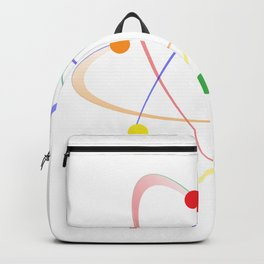 LGBT Whirling Atoms Backpack