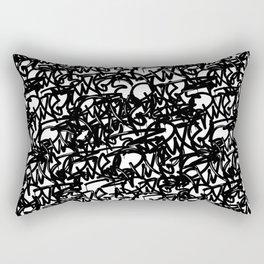 Graffiti Pattern   Street Art Urban Graphic Rectangular Pillow