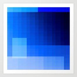 must be blue Art Print