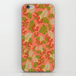 Hawaiian Pattern - Red iPhone Skin