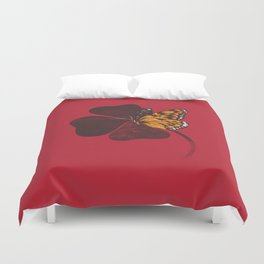By Chance Red Duvet Cover
