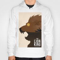 simba Hoodies featuring The Lion King by Rowan Stocks-Moore