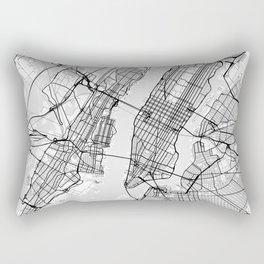 Scandinavian map of New York City in grayscale Rectangular Pillow