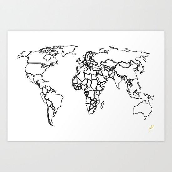 Sovereign Map Art Print