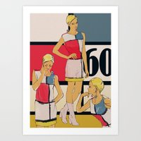 60s Art Prints featuring 60s by Galvanise The Dog