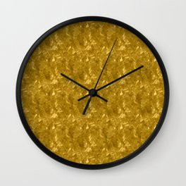 Gold Marble Design Wall Clock