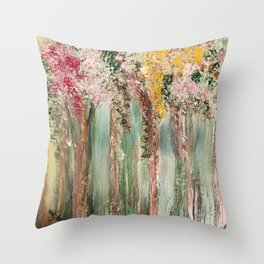 Woods in Spring Throw Pillow