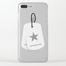 Veterans Day Commemorative Military Tag Design Clear iPhone Case