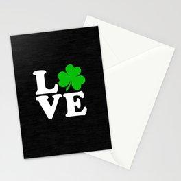 Love with Irish shamrock Stationery Cards