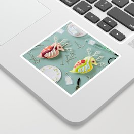 Giant Daphnia Laboratory Sticker