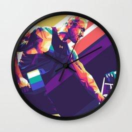 Dwayne Johnson Pop Art Wall Clock