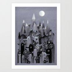 Nightbears Art Print