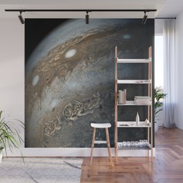Storms on Jupiter from Juno Cam (2017) Wall Mural