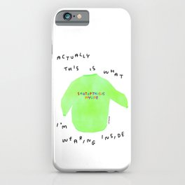 Self-Love Positive Quotes Life Humor Motivation Shut Up This Is My Life Colorful Sweater Illustration iPhone Case