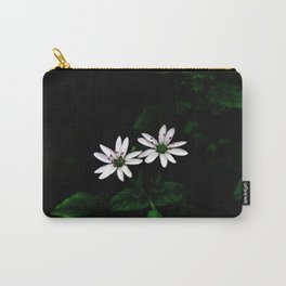 Botanical Still Life Little White Flowers Carry-All Pouch