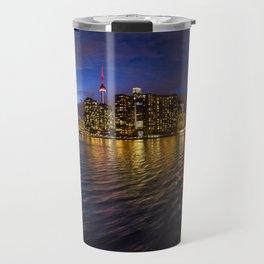 Rainbow city night Travel Mug