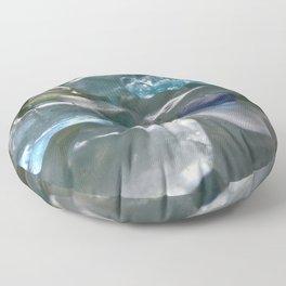 Ocean Hue Sea Glass Assortment Floor Pillow