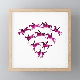 Connected to Showjumping (Magenta) Framed Mini Art Print