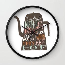 COFFE & LOVE Wall Clock
