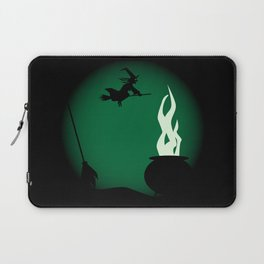 Halloween Witch Poster Background Laptop Sleeve