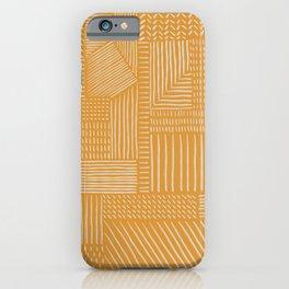 Mud Cloth / Yellow iPhone Case