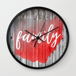 Ohio Map Family Barn Wall Painting Wall Clock