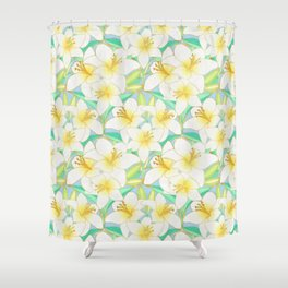 Gilding the Lilies - bright Shower Curtain