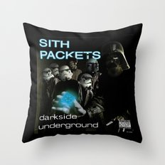 Darkside Undergound Sith Packets Throw Pillow