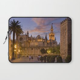 Seville, The Cathedral at dusk Laptop Sleeve