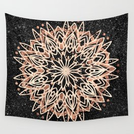 Metallic Mandala Wall Tapestry