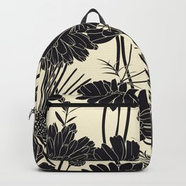 BLACK FLOWERS Backpack