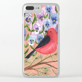 Scarlet Tanager Clear iPhone Case