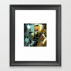 the synaptic gap Framed Art Print