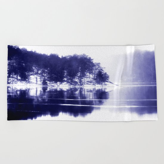 Painted scene Beach Towel