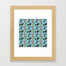 Small Dogs . Artwork Framed Art Print